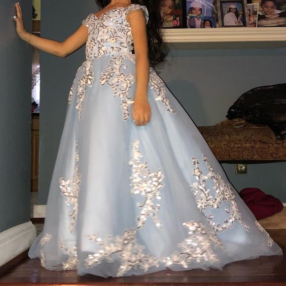 Dresses & Skirts - Dress for girl silver and blue light